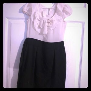 Girls' Black & White Dress